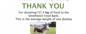 'Thank You' from Smethwick Food Bank