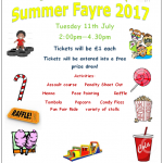Summer Fayre 2017-Tuesday 11th July